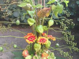 Ellen Deelen natuurlijke Bloem - creaties vrolijk herfststuk vanaf € 35.00_449x800