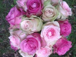 Ellen Deelen natuurlijke Bloem - creaties bruidsboeket biedermeier div. rose rozenIMAG1836_1_600x640